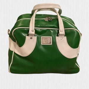 Lululemon Green & White Bowler / Gym / Overnight / Travel Bag